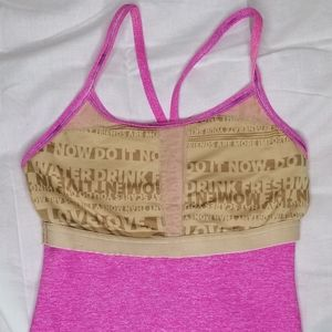 Lululemon Pink Ombre Heathered Paris Power Y Tank